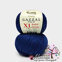 Пряжа Бэби вул XL Baby Wool XL Gazzal, 802, т. синий