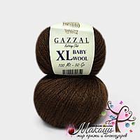 Пряжа Бэби вул XL Baby Wool XL Gazzal, 807, шоколад