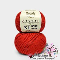Пряжа Бэби вул XL Baby Wool XL Gazzal, 811, красный