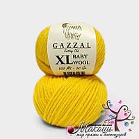 Пряжа Бэби вул XL Baby Wool XL Gazzal, 812, желтый