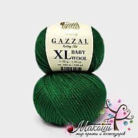 Пряжа Бэби вул XL Baby Wool XL Gazzal, 814, т. зеленый