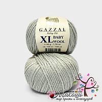 Пряжа Бэби вул XL Baby Wool XL Gazzal, 817, св. серый