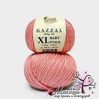 Пряжа Бэби вул XL Baby Wool XL Gazzal, 828, розовый