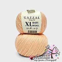 Пряжа Бэби вул XL Baby Wool XL Gazzal, 834, персик