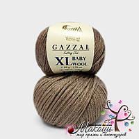 Пряжа Бэби вул XL Baby Wool XL Gazzal, 835, мокко