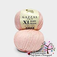 Пряжа Бэби вул XL Baby Wool XL Gazzal, 836, бледно-розовый