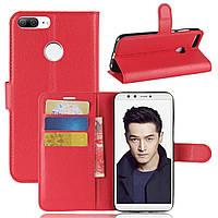 Чехол-книжка Litchie Wallet для Huawei Honor 9 Lite Красный