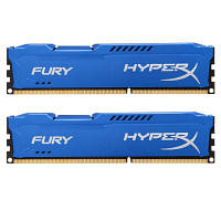 Модуль памяти DDR3 16Gb (2x8GB) 1600 MHz HyperX Fury Fury Blu Kingston (HX316C10FK2/ 16)