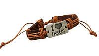 "Браслет ""I love Jesus"", горчичный"