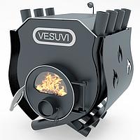 Отопительно - варочная печь - булерьян Vesuvi classic 00 (Везувий классик 00) со стеклом и  защитным кожухом