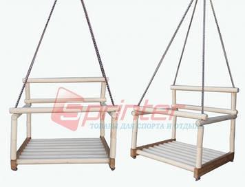 Качели подвесные деревянные детские
