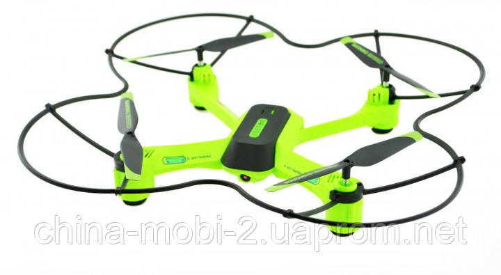 Квадрокоптер дрон Lian Sheng Vector LS2017W с WiFi камерой, черный с зеленым