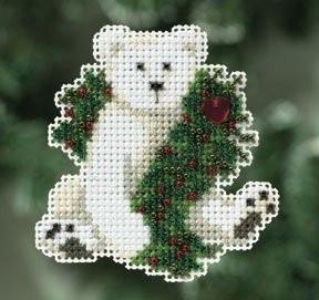 Набор для вышивки Mill Hill Hoilday Polar Bear