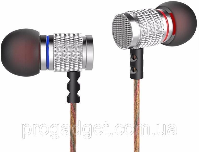 Наушники KZ EDR2 Knowledge Zenith Mega Bass silver (серебристый) HiFi наушники с микрофоном