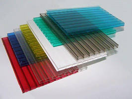 Стільниковий полікарбонат 3 мм, розмір листа 2000х6000 мм