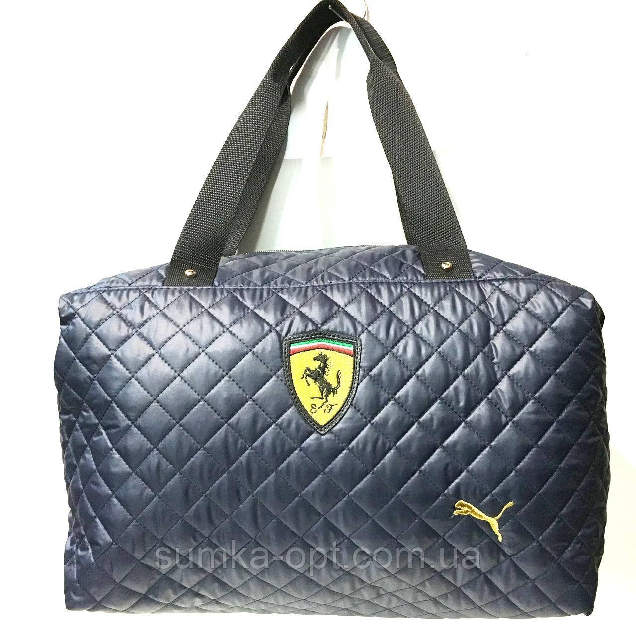 Брендовые спортивные сумки Ferrari+Puma (синий)28*39см