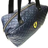 Брендові спортивні сумки Dolce&Gabbana (чорний глянцевий)28*39див, фото 4