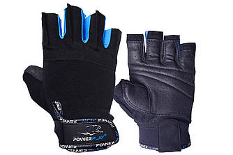 Рукавички для фітнесу PowerPlay 3092 Чорно-Сині S