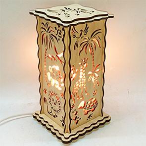 """Соляной светильник деревянный сетка"""" Африка"""""""