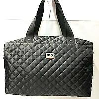 Брендовые спортивные сумки Dolce&Gabbana (черный глянцевый)28*39см