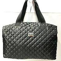 Брендовые спортивные сумки Dolce&Gabbana (черный глянцевый)28*39см, фото 1