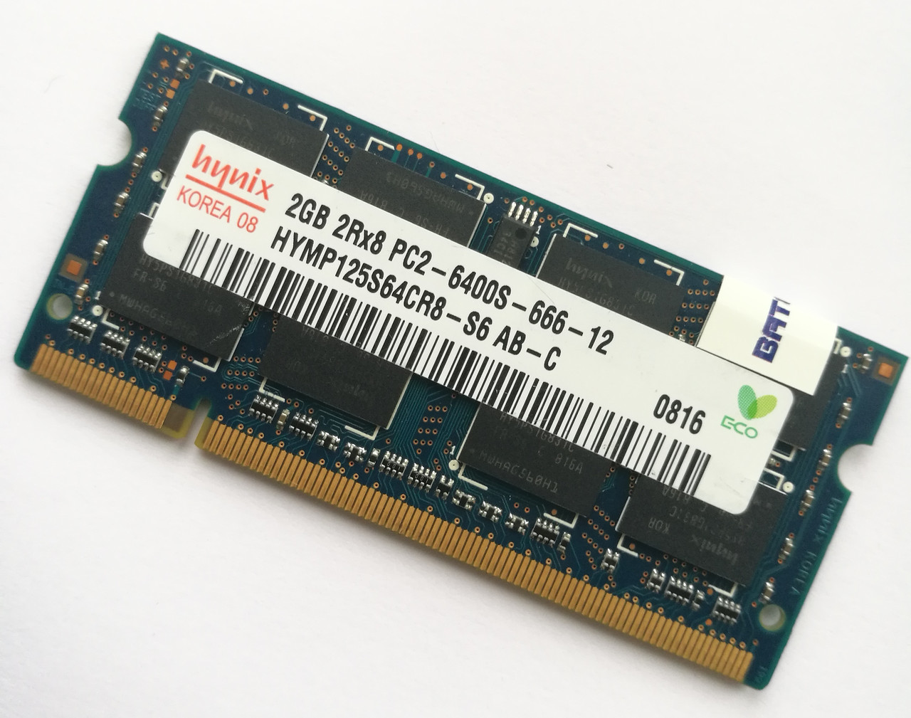 Оперативная память Hynix SODIMM DDR2 2Gb 800MHz 6400s CL6 (HYMP125S64CR8-S6 AB-C) Б/У