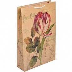 """Пакет цветной большой """"Цветы"""" вертикальный.5001, фото 2"""