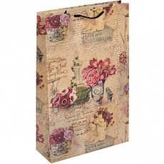 """Пакет цветной большой """"Цветы"""" вертикальный.5001, фото 3"""