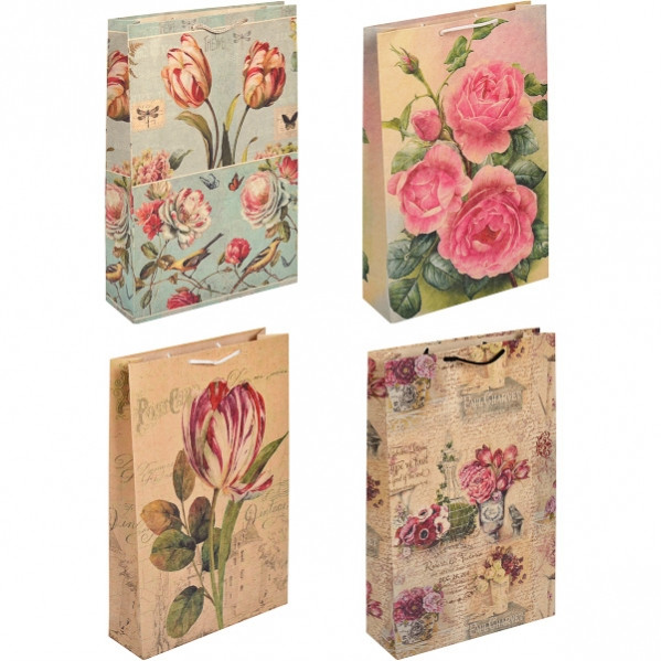 """Пакет цветной большой """"Цветы"""" вертикальный.5001"""