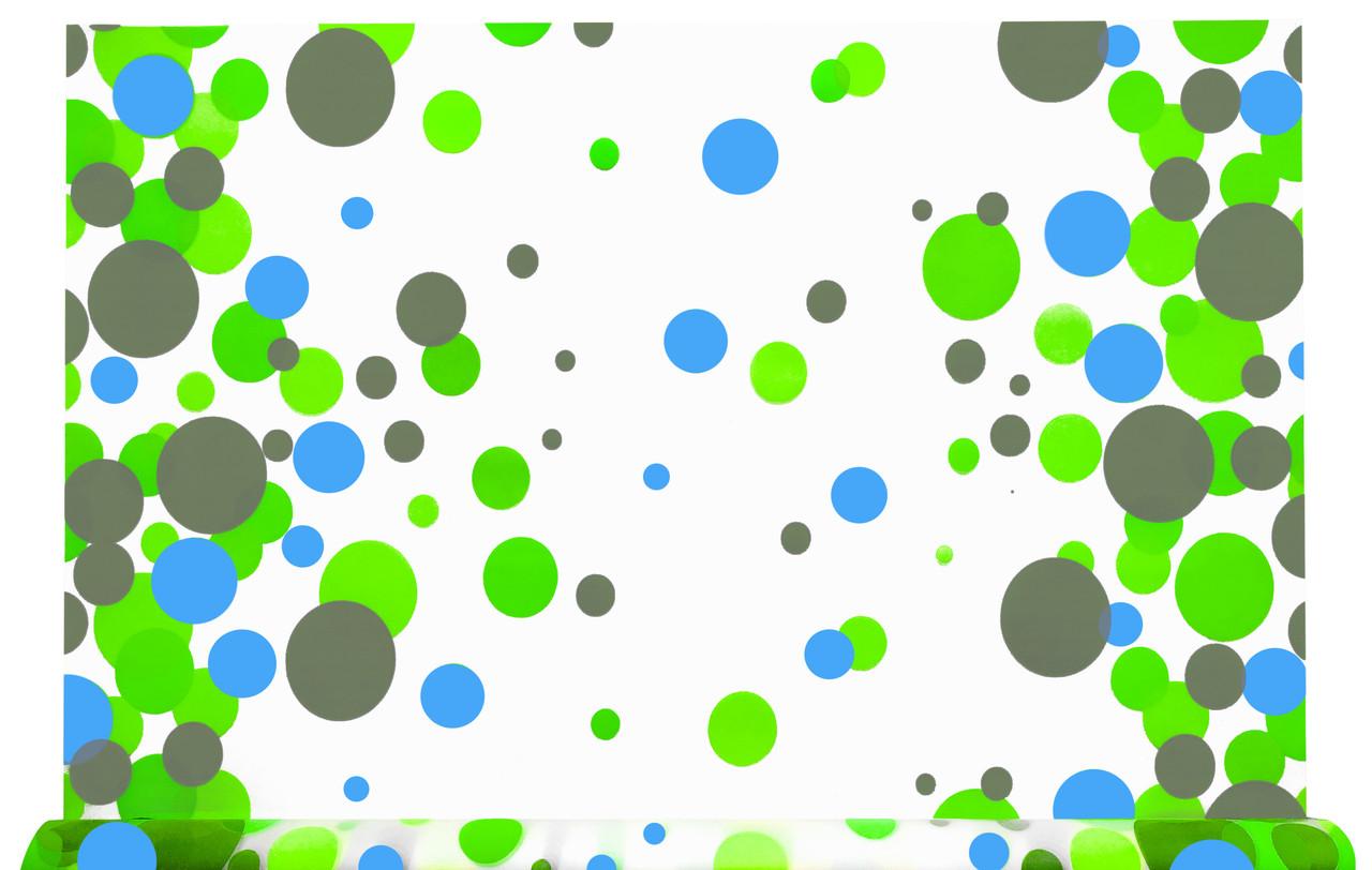 Тонированная пленка матовая Шары зеленые 70 см х 10 м