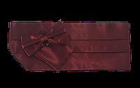 Пояс для смокинга бордовый, фото 1