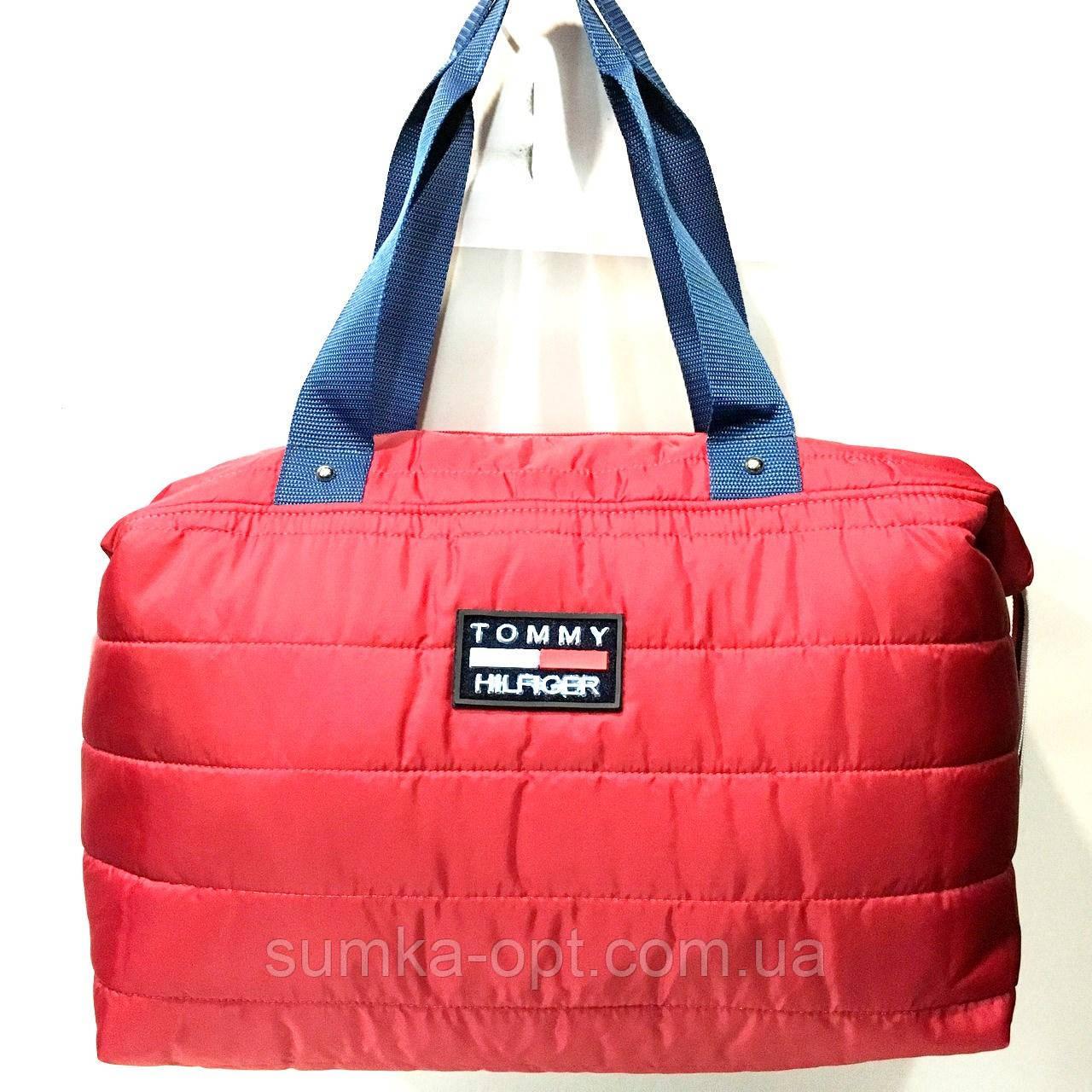 Брендовые спортивные сумки Tommy Hilfiger (красный)28*39см
