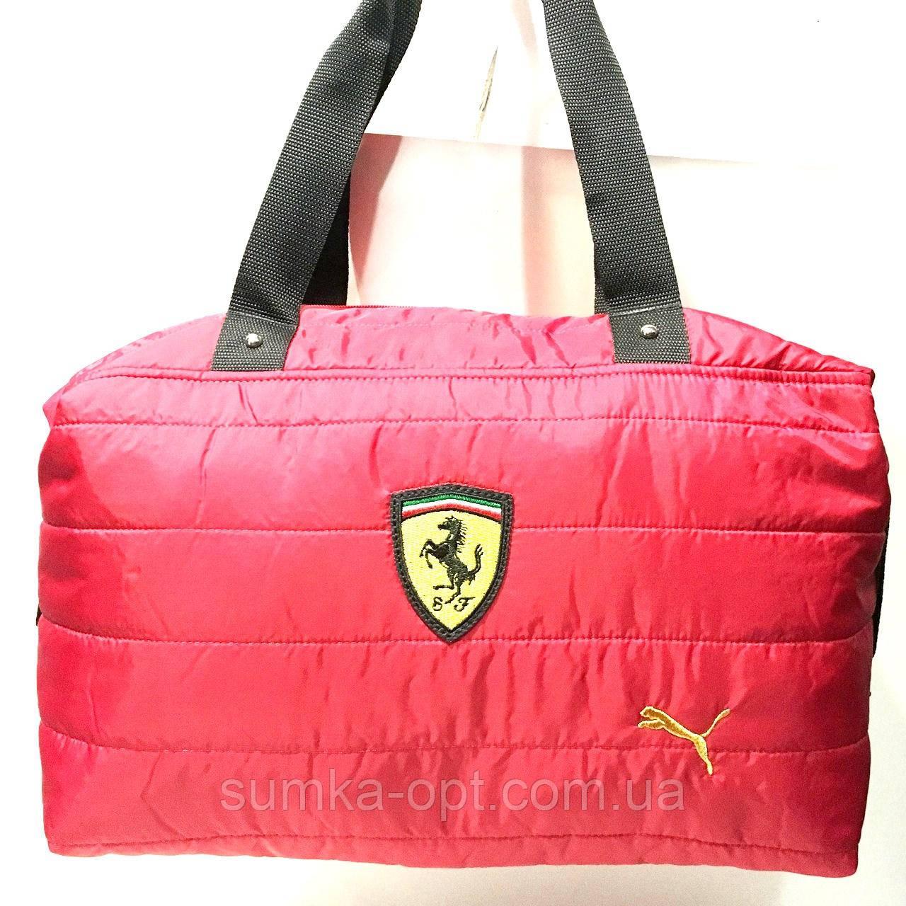 Брендовые спортивные сумки Ferrari+Puma (красный)28*39см