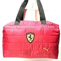 Брендовые спортивные сумки Ferrari+Puma (красный)28*39см, фото 1