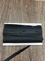 Бейка Стрейчевая 15 мм, 50 ярдов, глянцевая (черный)