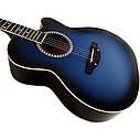 Гитара акустическая Trembita Leotone L-01 BL (чехол, медиатор, каподастр, струна, ключ), фото 3