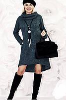 Платье женское ангоровое батал, фото 1