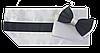 Пояс для смокинга белый + черный / кушак / камербанд