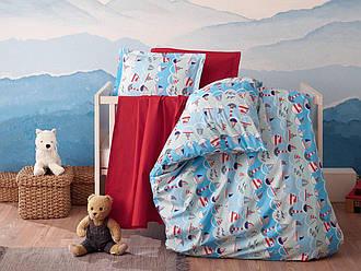 Ткань для детского постельного белья поплин №35-01