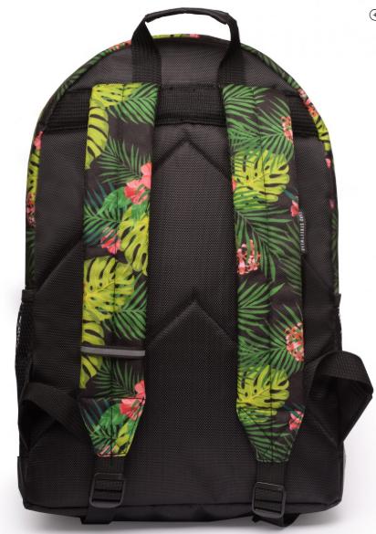 Рюкзак GARD женский с цветочным принтом BACKPACK-2  jungle juice вид сзади