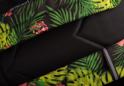 Рюкзак GARD женский с цветочным принтом крупным планом сзади BACKPACK-2  jungle juice