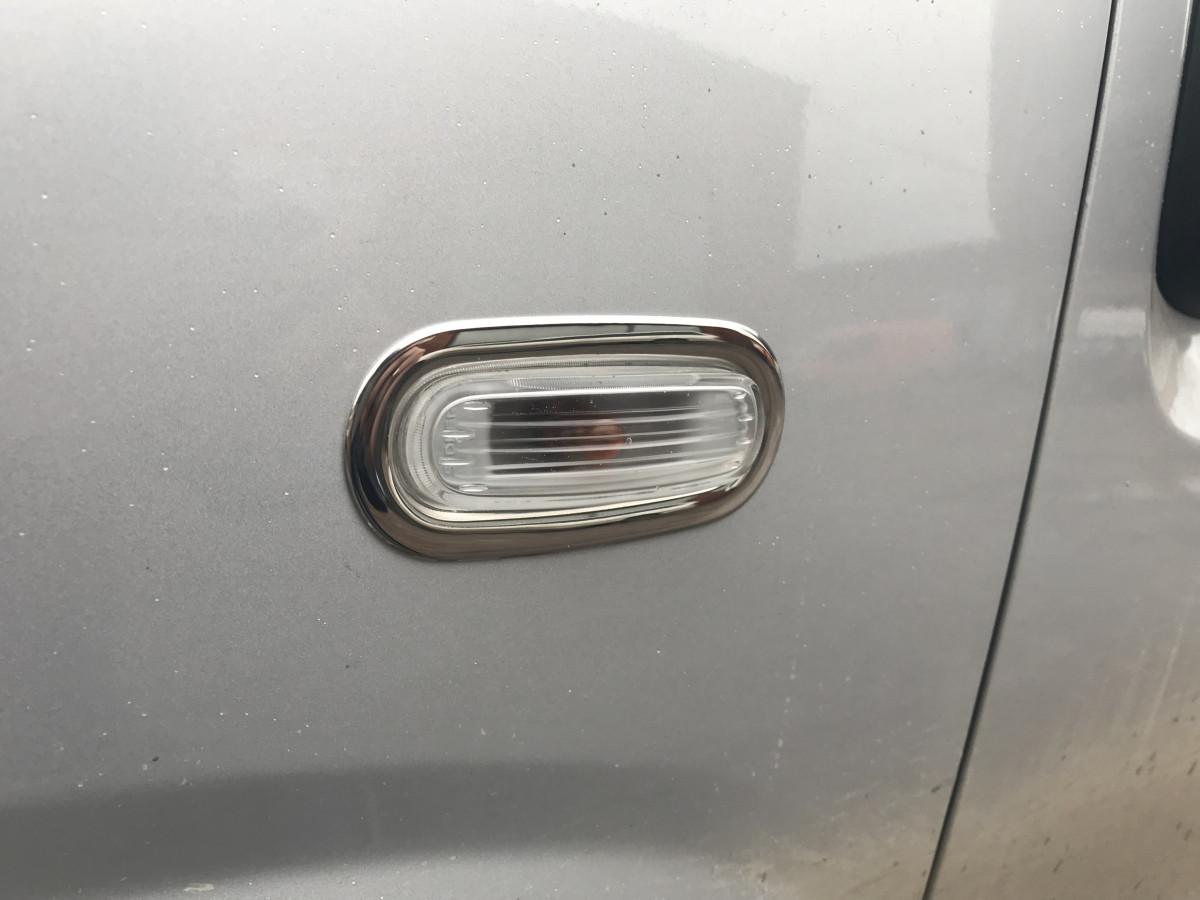 Обводка поворотника (2 шт, нерж.) - Fiat Doblo III nuovo 2010+ и 2015+ гг.