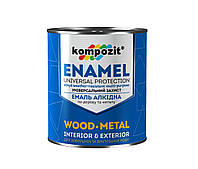 Емаль алкідна по дереву і металу Kompozit Enamel 2.5 кг Сріблястий