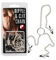 Зажимы для сосков и клитора - Nipple and Clit Chain