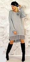 Платье женское ангоровое батал  саф288, фото 1