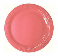 Тарелки Розовые 8шт/уп F-181821