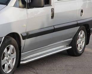 Бічні майданчики Premium (2 шт., нерж.) - Fiat Scudo 1996-2007 рр.