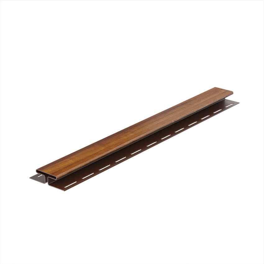 Монтажная планка для софита, H-профиль ПВХ Galeco Dekor 4м Золотой дуб