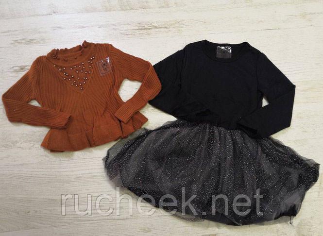 Нарядное модное платье и кофта для девочки рост 140 см, Glo-story GMY-7603