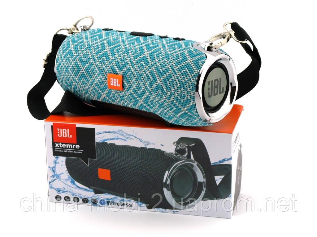 JBL XTREME mini 12 копія, портативна колонка з Bluetooth FM MP3, Mosaic м'ятна з сірим